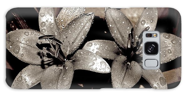 Gilded Lilies Galaxy Case by Linda Bianic