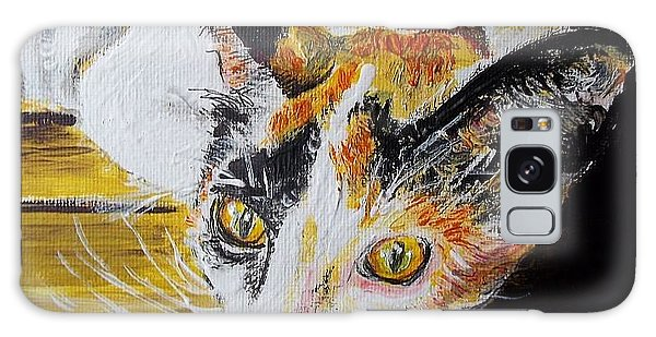 Ginger Stray Cat Galaxy Case