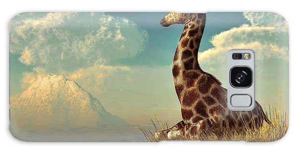 Giraffe And Distant Mountain Galaxy Case