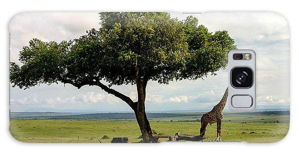 Giraffe And The Lonely Tree  Galaxy Case by Menachem Ganon