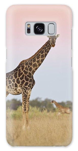 Giraffe At Sunset Galaxy Case