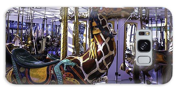 County Fair Galaxy Case - Giraffe Carousel Ride by Garry Gay