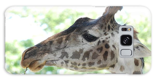 Giraffe Chewing On A Tree Branch Galaxy Case by DejaVu Designs