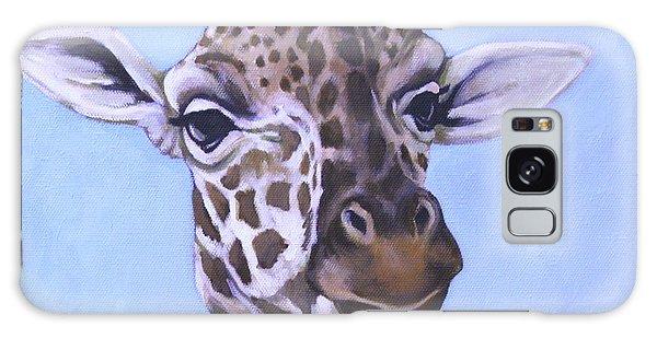 Giraffe Eye To Eye Galaxy Case