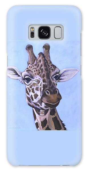 Giraffe Eye To Eye Galaxy Case by Penny Birch-Williams