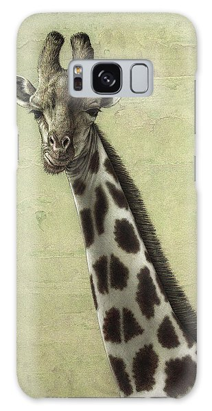 Galaxy Case - Giraffe by James W Johnson