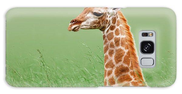 Giraffe Lying In Grass Galaxy S8 Case