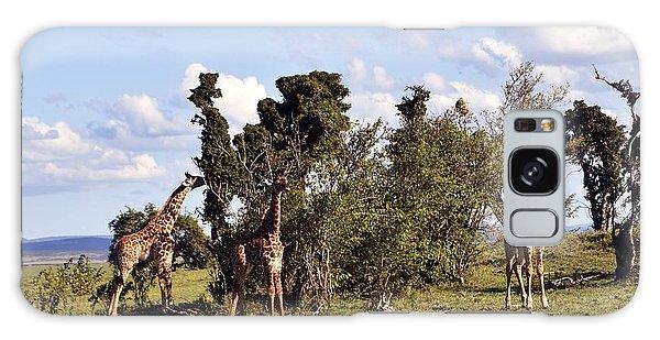 Giraffe Picnic Galaxy Case