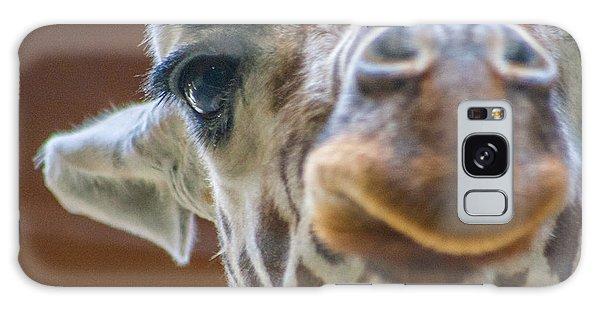 Giraffe Portrait Galaxy Case