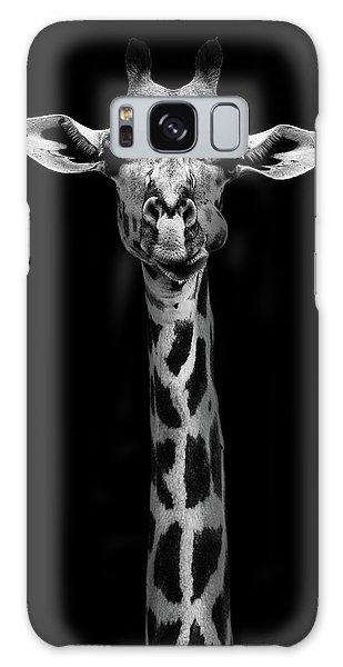 Tall Galaxy Case - Giraffe Portrait by Wildphotoart