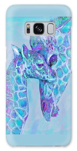 Giraffe Shades  Purple And Aqua Galaxy Case by Jane Schnetlage