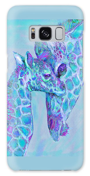 Giraffe Shades  Purple And Aqua Galaxy Case