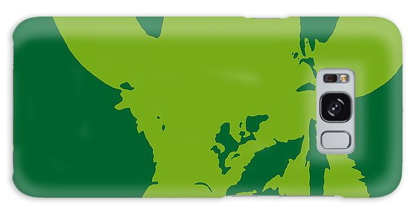 Giraffe Silhouette Lime Green Galaxy Case