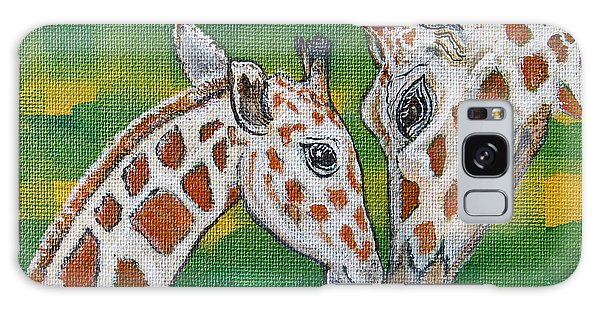 Giraffes Artwork - Learning And Loving Galaxy Case