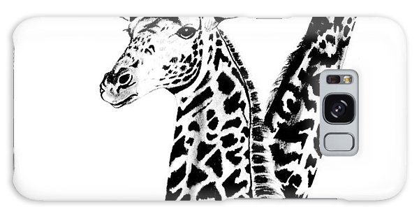 Giraffes Galaxy Case by Cheryl Poland
