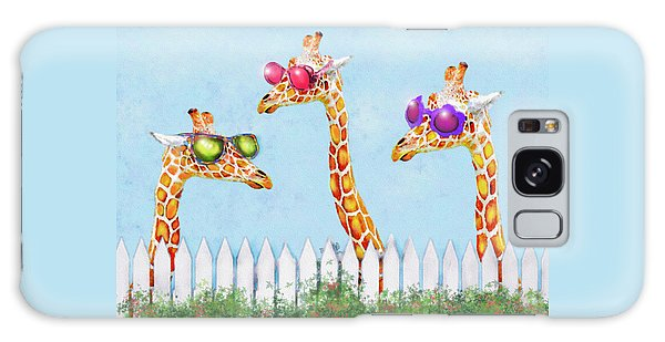 Giraffes In Sunglasses Galaxy Case