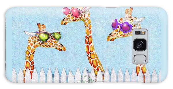 Giraffes In Sunglasses Galaxy Case by Jane Schnetlage