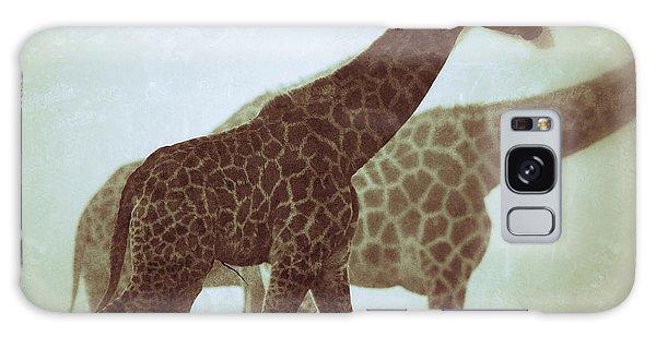 Giraffes In The Mist Galaxy Case by Nick  Biemans