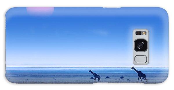 Giraffes On Salt Pans Of Etosha Galaxy S8 Case