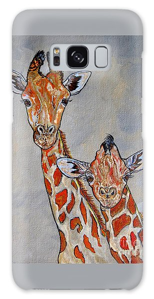 Giraffes - Standing Side By Side Galaxy Case