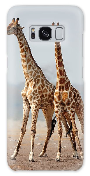 Giraffes Standing Together Galaxy Case