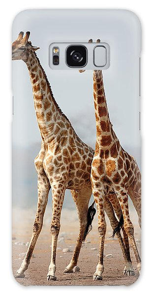 Tall Galaxy Case - Giraffes Standing Together by Johan Swanepoel