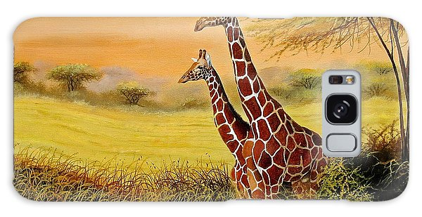 Giraffes Watching Galaxy Case