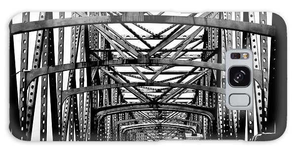 Girders Over The Mississippi In Black And White Galaxy Case