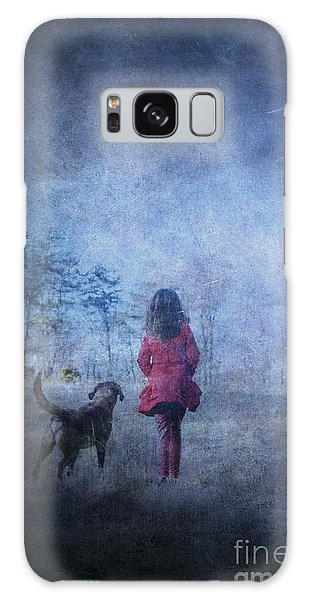 Girl And Her Dog Galaxy Case
