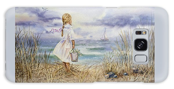 Girl At The Ocean Galaxy Case