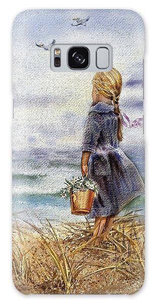Girl And The Ocean Galaxy Case by Irina Sztukowski