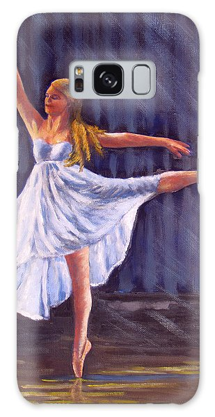 Girl Ballet Dancing Galaxy Case