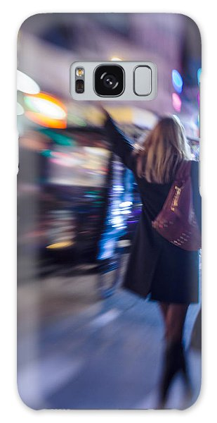 Girl Catching A Taxi In Manhattan Galaxy Case