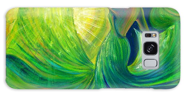 Scarf Galaxy Case - Girl Dancing With The Sun by Vanja Zogovic