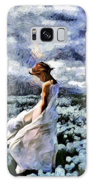 Girl In A Cotton Field Galaxy Case