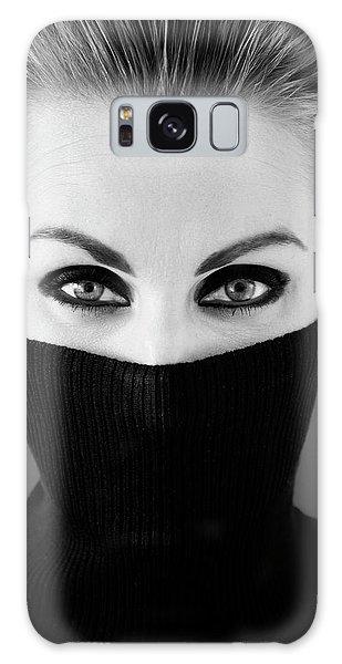 Hiding Galaxy Case - Girl In Black by Tom K