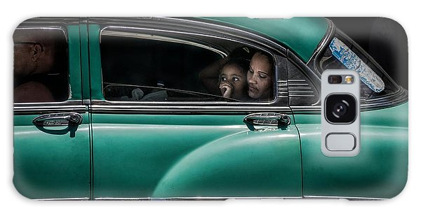 Vintage Cars Galaxy Case - Girl In Green by Pavol Stranak