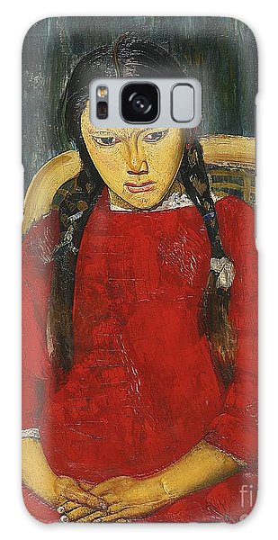 Russian Impressionism Galaxy Case - Girl In Red by Celestial Images