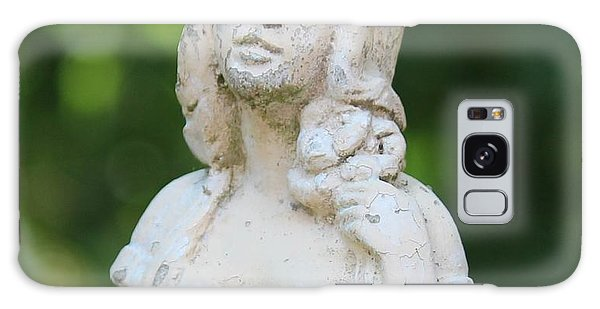 Girl In The Garden Statue Galaxy Case by Cynthia Snyder