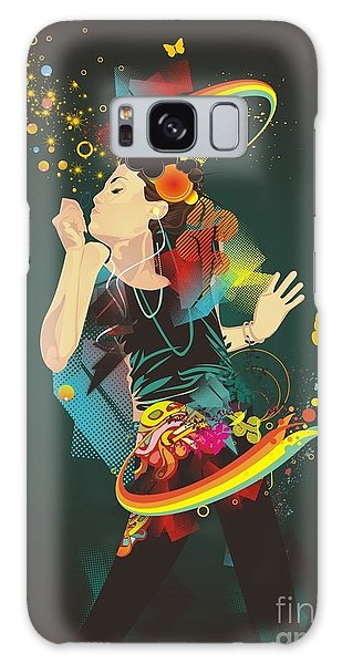 Hair Galaxy Case - Girl Making Soap Bubbles,rainbow And by Gudron
