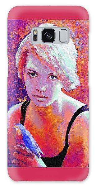 Girl On Fire Galaxy Case by Jane Schnetlage