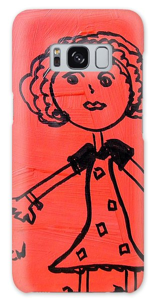 Girl On Red Galaxy Case