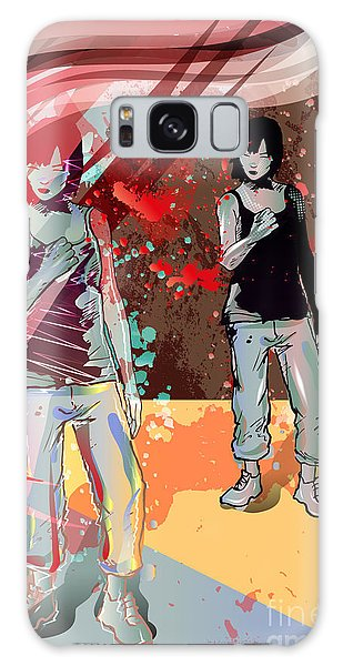 Success Galaxy Case - Girl Power, Abstract Grunge Background by Irmak Akcadogan