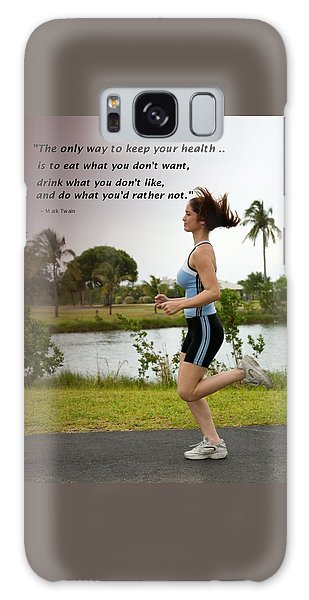 Girl Running For Health Goals Galaxy Case