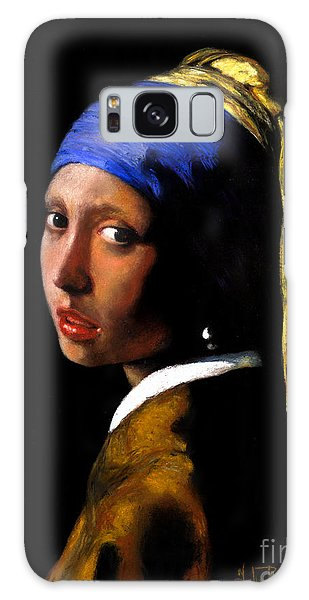 Girl With A Pearl Earring Galaxy Case - 'girl With A Pearl Earring' After Johannes Vermeer. by John  Palmer