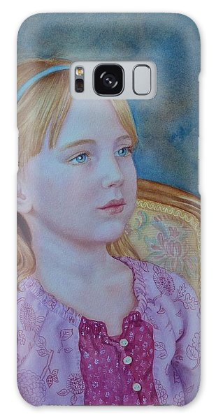 Girl With Blue Headband Galaxy Case
