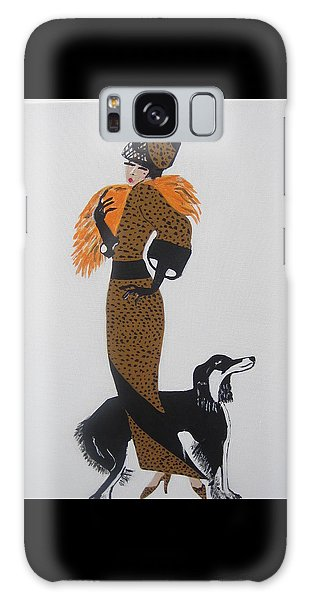 Girl With Orange Fur Galaxy Case