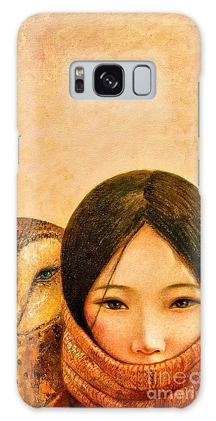 Owl Galaxy Case - Girl With Owl by Shijun Munns