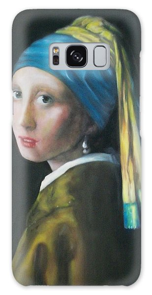 Girl With A Pearl Earring Galaxy Case - Girl With The Pearl Earring Reproduction by Dylan Williams