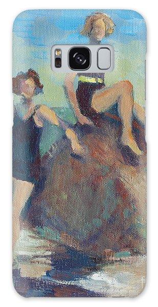 California Galaxy Case - Girlfriends At The Beach by Karla Bartholomew